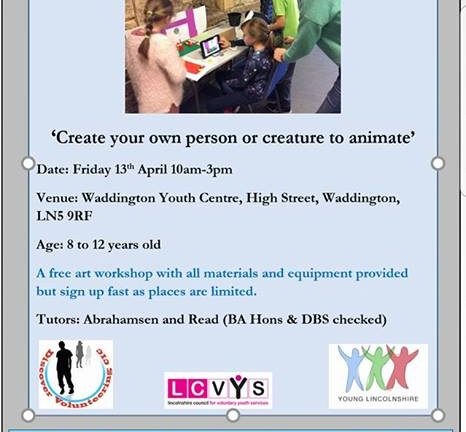 Free Animation Workshop Waddington near Lincoln
